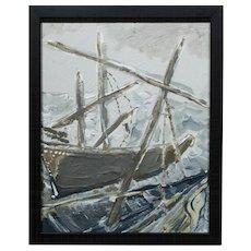 Charlotte E. Murphy: Ships, Acrylic Painting c.2000
