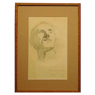 Portrait of a Man, 1958 Pencil Drawing