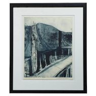 Helen Vaisnoris, Bridge I Etching