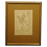1940's Victory Drawing signed Delafond