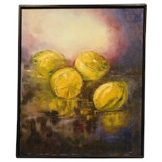 Y. Chadwick Still Life with Lemons,oil painting