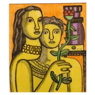 After Fernand Leger: Mother and Daughter with Rose