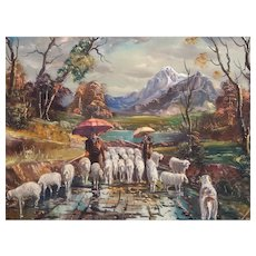 Favaro: Shepherds in the Rain
