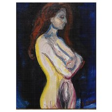 After Edvard Munch: Woman, Oil Painting