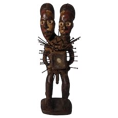 Two-Headed Bacongo Nkisi Figure