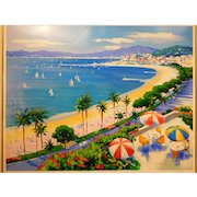Beach View, Limited edition serigraph by Alex Pauker