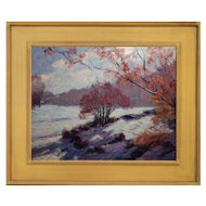 Contemporary Impressionist Snow Scene