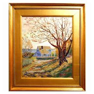 Contemporary Impressionist Cape Cod Painting By Bruce Wood