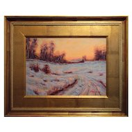 Contemporary Tonalist Winter Sunset