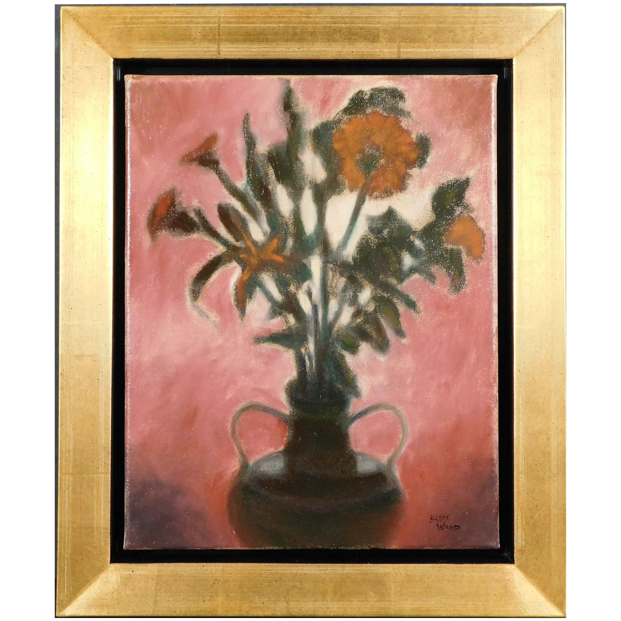 After Dark Floral Still Life Oil Painting By Bruce Wood