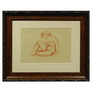 Aristide Maillol: Seated Female Nude, Lithograph c. 1935