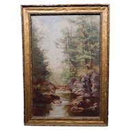 Rocky Stream White Mountain Oil Painting