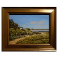Contemporary Realist Cape Cod Oil Painting