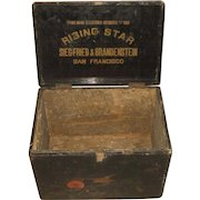 Antique San Francisco Rising Star Coffee, Spice, Tea Wooden Advertising Display Box