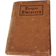 Vintage Miniature Book Tongue Twisters