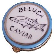 Vintage LIMOGES France Peint Main Beluga Caviar Hinged Trinket Box