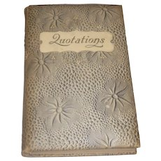 1901 Charming Padded Hard Cover Book Dictionary of Prose Quotations by George W. Powers