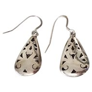 Beautiful Vintage Sterling Silver Taxco Openwork Earrings