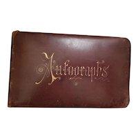 1800's Antique Leather Autograph Book New York, East Coast