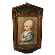 Vintage 1920's Gesso Duro Craft Regal Art Co Art Plaque Baby Stuart Van Dyke