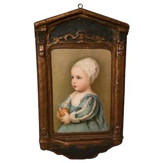 Vintage 1920's Gesso Duro Craft Regal Art Co Art Plaque Baby Stuart Van Dyke