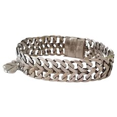 Beautiful Vintage Woven Sterling Silver Bracelet Mexico