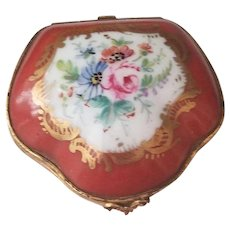 Very Old Vintage Limoges France Hand Painted Trinket Box