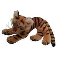 Vintage Steiff Tiger Mohair Striped Plush