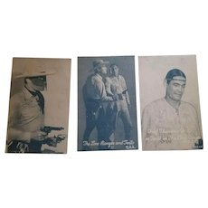 1950's Arcade Card Set The Lone Ranger & Tonto Western Cowboy Card's