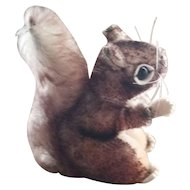 "Darling Vintage Steiff  Plush Toy Squirrel with button "" Perri """
