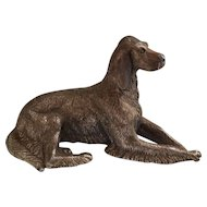 Towle Pewter Peltro Dog Irish Setter Paperweight Figurine Made in Italy