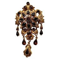 Vintage Florenza Gold Tone Fall Colors Dangle Brooch