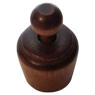 Vintage Miniature Butter Mold wooden Tulip Design