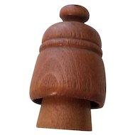 Vintage Miniature Wooden Butter Mold 5 Petal Flower Design