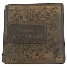Vintage Miniature Book Bible Forget-Me-Not's by Marcus Ward London