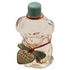 Vintage Manon Freres Dog Puppy Perfume Bottle Jadeite Green Lid