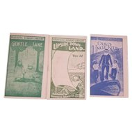 Vintage Faultless Starch Miniature Children's Book Library  3 Volumes