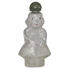 Kleinkramer Holland Figural Glass Little Lady Girl Perfume Bottle