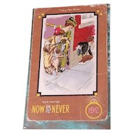 Antique Now or Never 1912 Leap Year Postcard Cupid