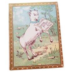 Antique Kid Gloves Victorian Trade Card Advertising Brochure Darling Goat 1884