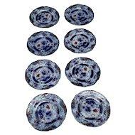 Set of 8 Wood & Son Verona Dessert Plates Royal Semi Porcelain Transferware