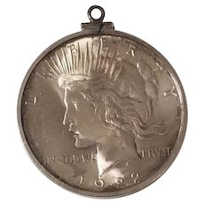 1922 Peace Dollar US United States Coin Pendant
