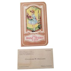 The Home Needle Case Card and Business Card Ziegler Funeral Service