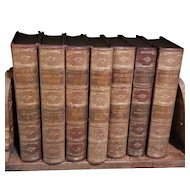 7 Volume Antique Book Set George Eliot's Works Leather Covers