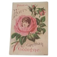 Victorian Trade Card Hoyt's German Cologne Lowell Mass.