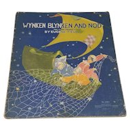 Wynken Blynken and Nod by Eugene Field Vintage 1930 Illustrated Children's Book