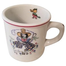"Vintage Shenango China Child's ""Little Bo Peep"" Restaurant Ware Mug Cup"