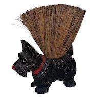Vintage Composition Scotty Dog Scottish Terrier Crumb Brush