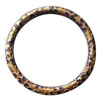 Vintage High Relief Cloisonne Bangle Bracelet