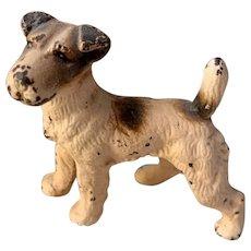 Antique 19th Century Cast Iron Fox Terrier Dog
